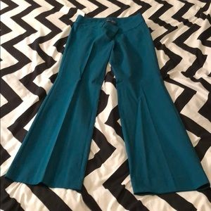 NWOT The Limited Exact Stretch Bootcut Pants Teal